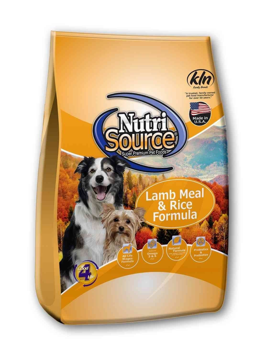 NutriSource Lamb Meal & Rice Formula Dog Food 30 lbs