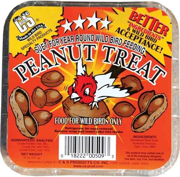 C and S Peanut Treat Suet - 11oz