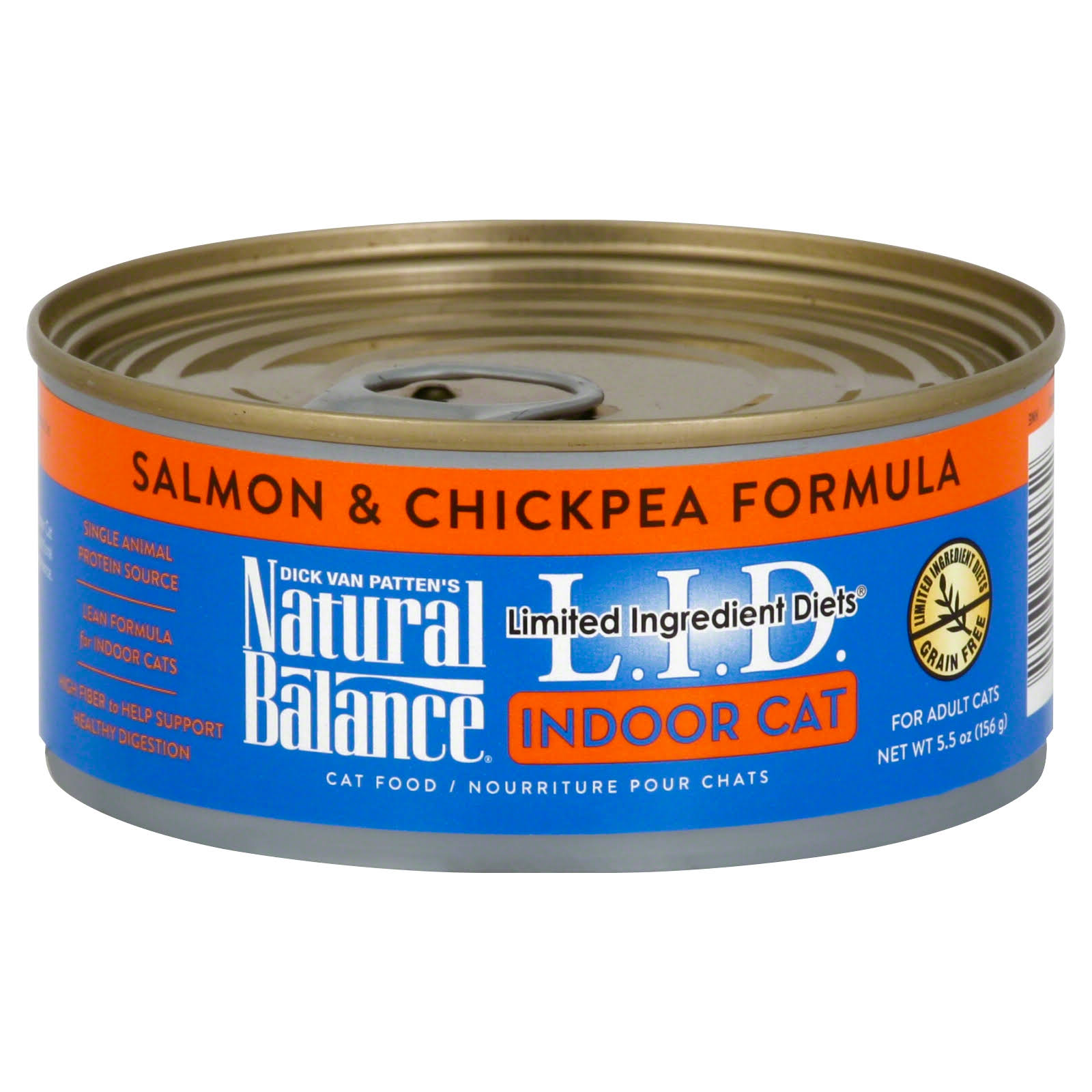 Natural Balance Lid Indoor Cat Food - Salmon & Chickpea Formula