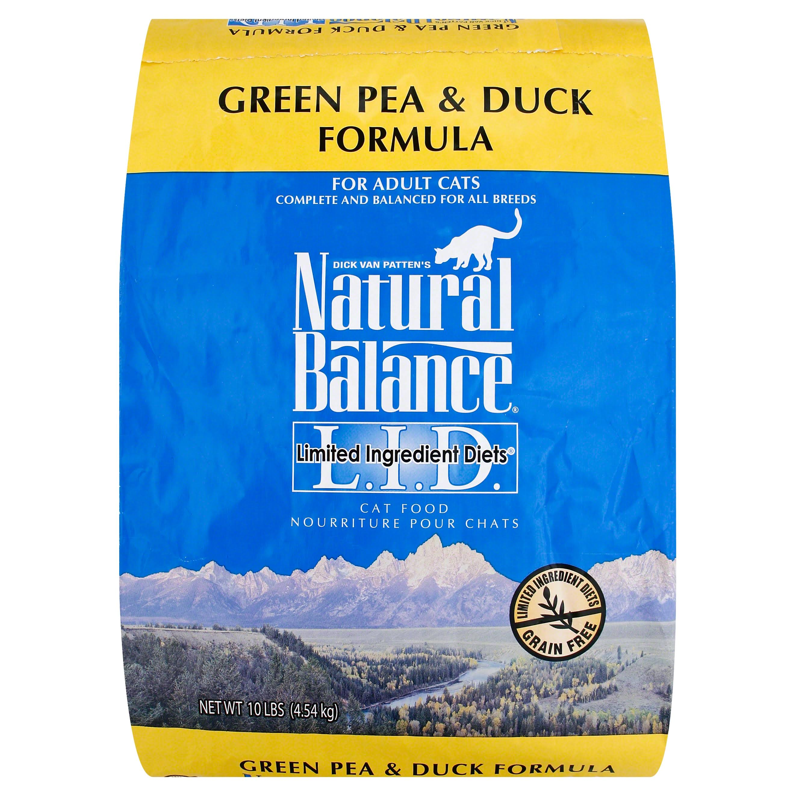 Natural Balance Dry Cat Food - Green Pea & Duck, 4.5 kg