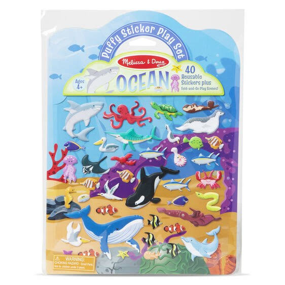 Melissa & Doug - Puffy Sticker Play Set - Ocean