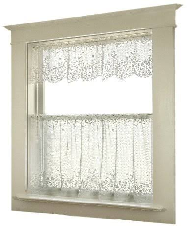 "Heritage Lace Blossom Lace Tier Curtain - Ecru, 42"" x 24"""