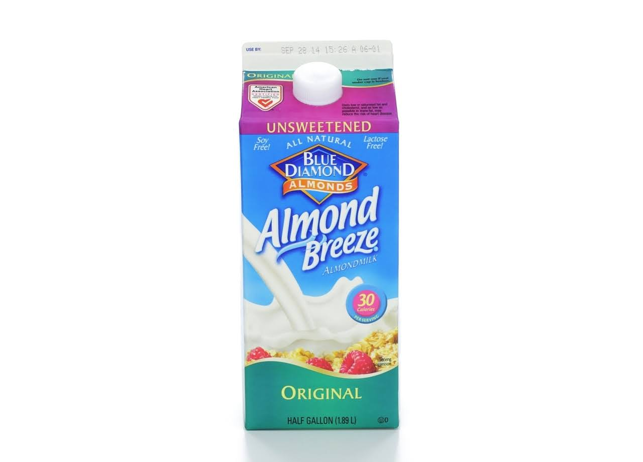 Blue Diamond Almonds Almond Breeze Unsweetened Original Almondmilk - 1/2 Gal