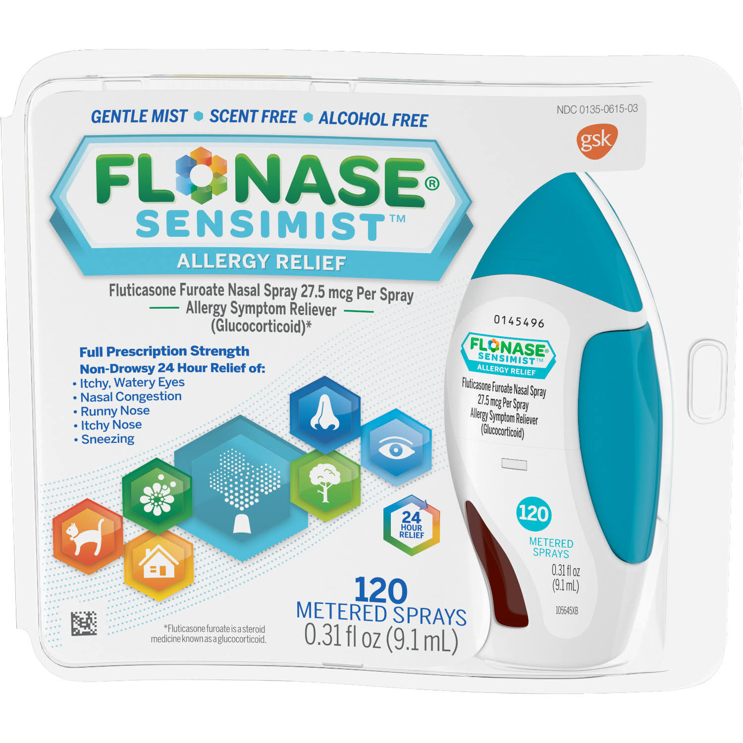 Flonase Sensimist Allergy Relief Nasal Spray - 120 Count