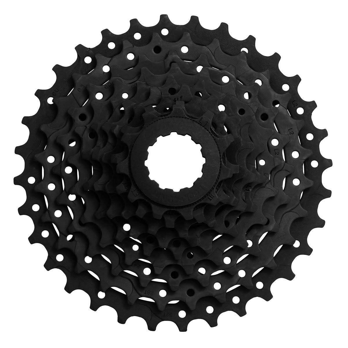 SunRace Cs M90 Bicycle Cassettes, Black, 9 Speed, 11-34t
