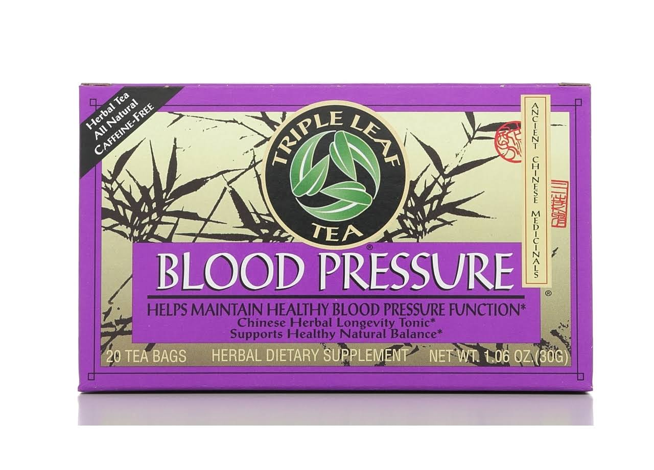 Triple Leaf Blood Pressure Tea Bags - 20 Tea Bags, 30g