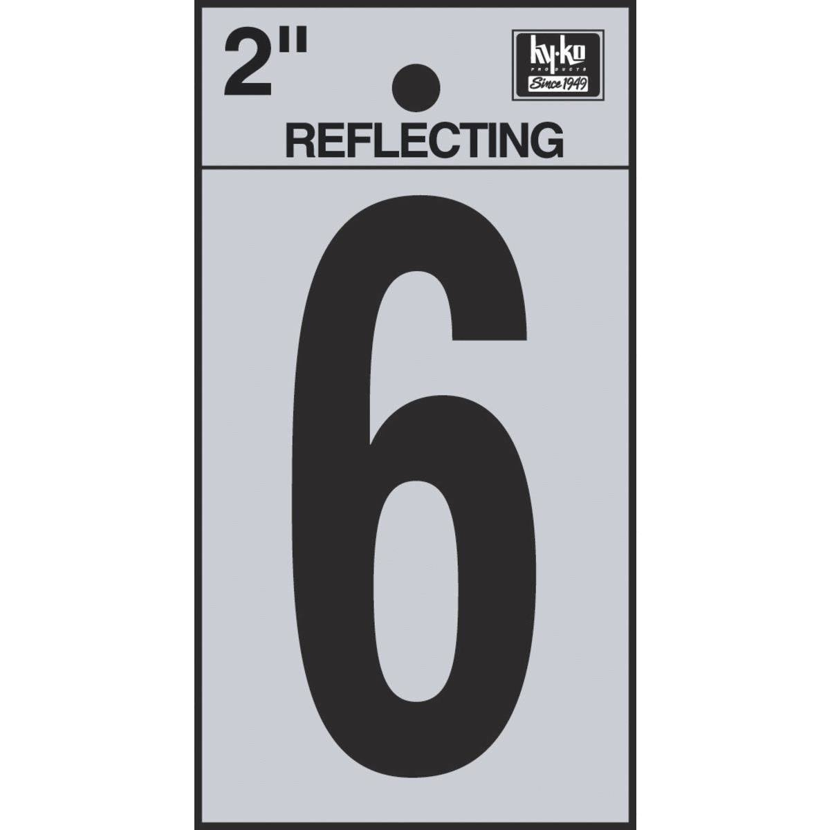 Hy-Ko Products Reflective 6 House Number