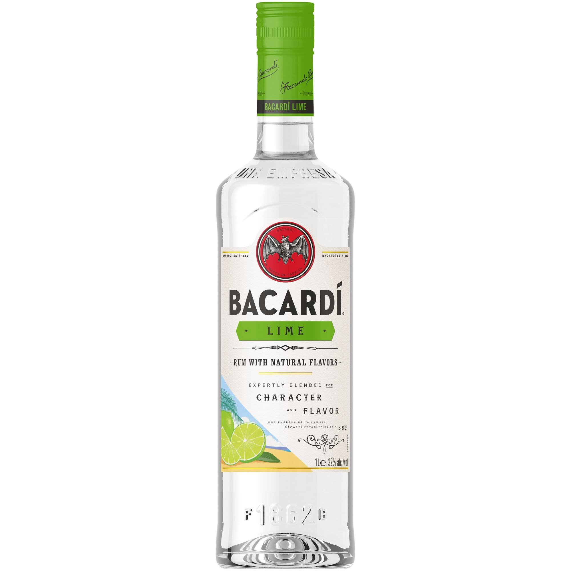 Bacardi Rum, Lime - 750 ml