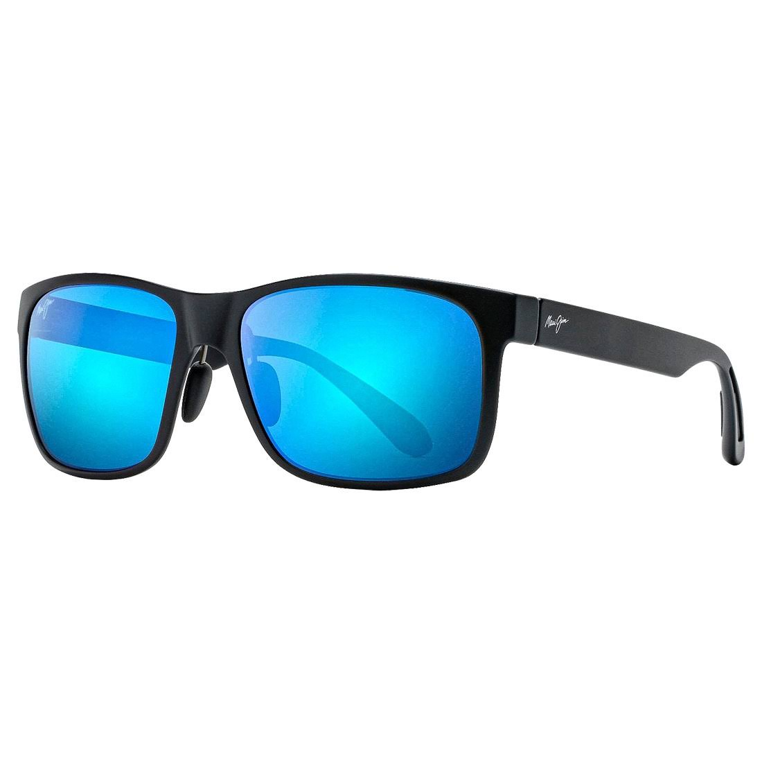 Maui Jim Red Sands Matte Black Blue Hawaii Unisex Sunglasses