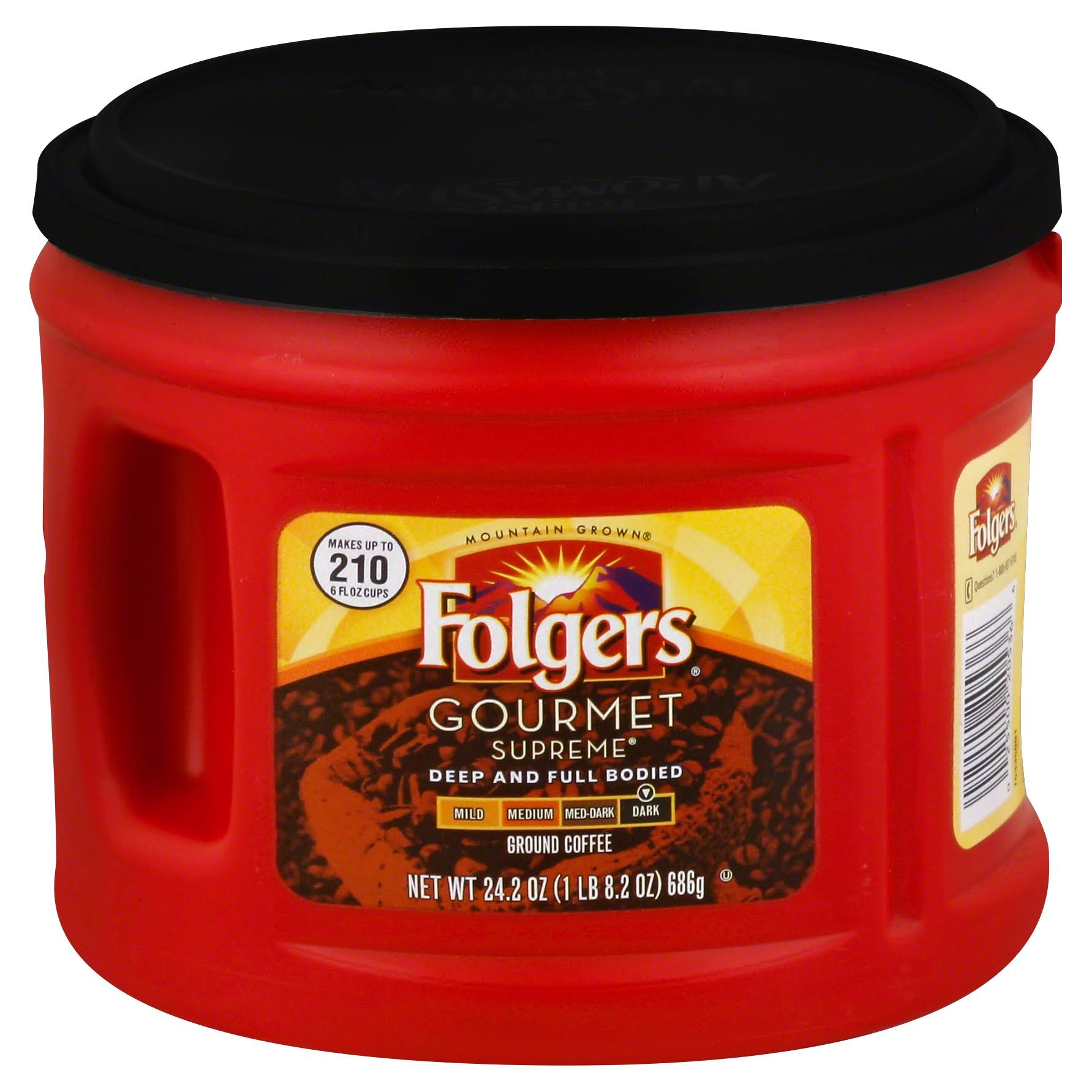 Folgers Gourmet Supreme Dark Ground Coffee - 686g