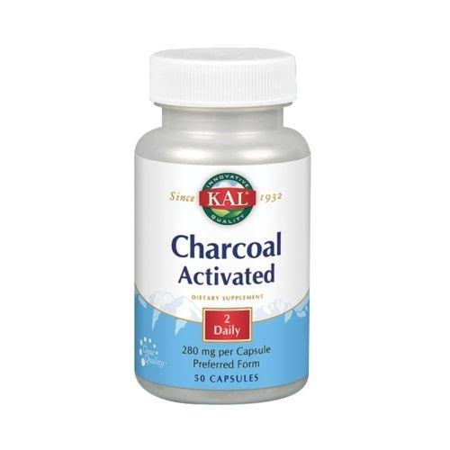 Kal Charcoal Tablets - 280mg, 50 Capsules