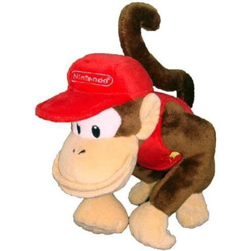 Nintendo Official Super Mario Diddy Kong Plush Toy - 6""