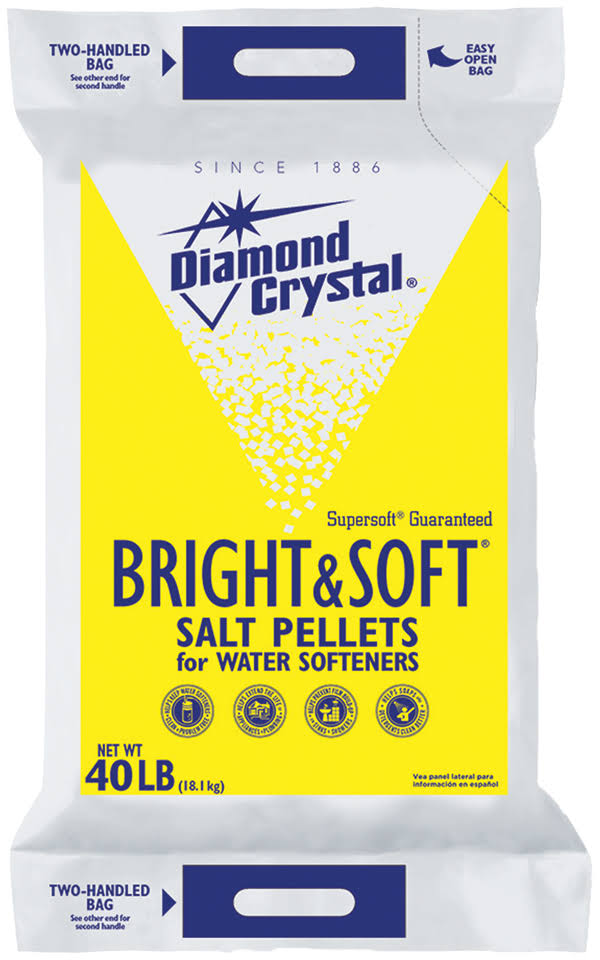 Diamond Crystal Bright and Soft Water Softener Salt Pellets - 40lbs