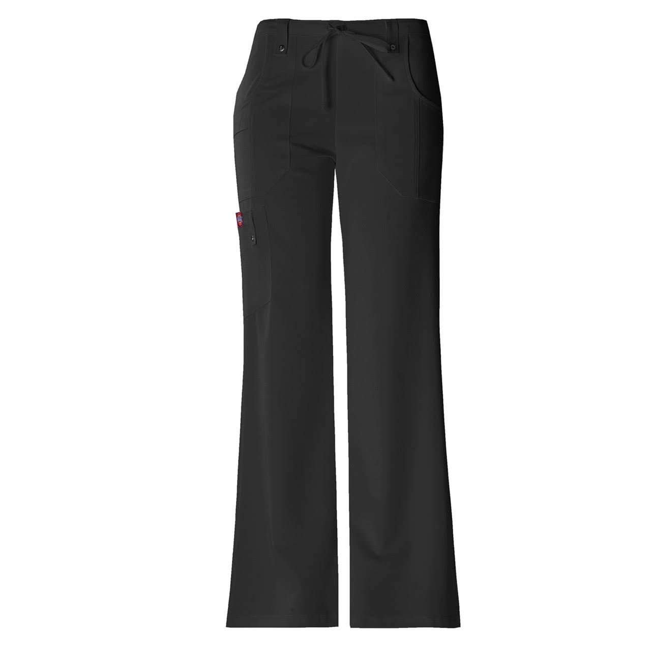 Dickies Women's Xtreme Stretch Fit Drawstring Flare Leg Pant - Black, Small