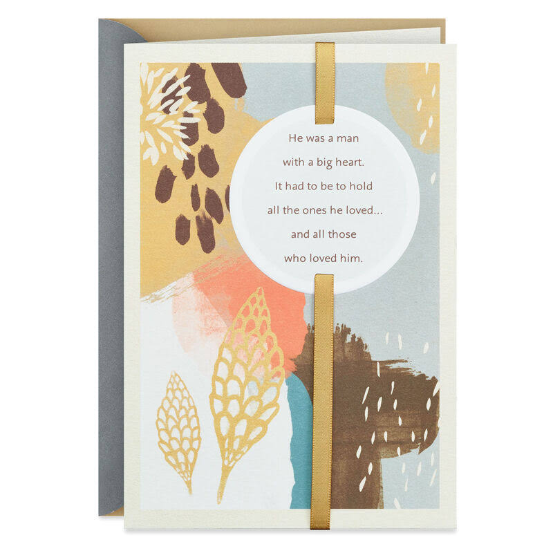 A Man with A Big Heart Sympathy Card