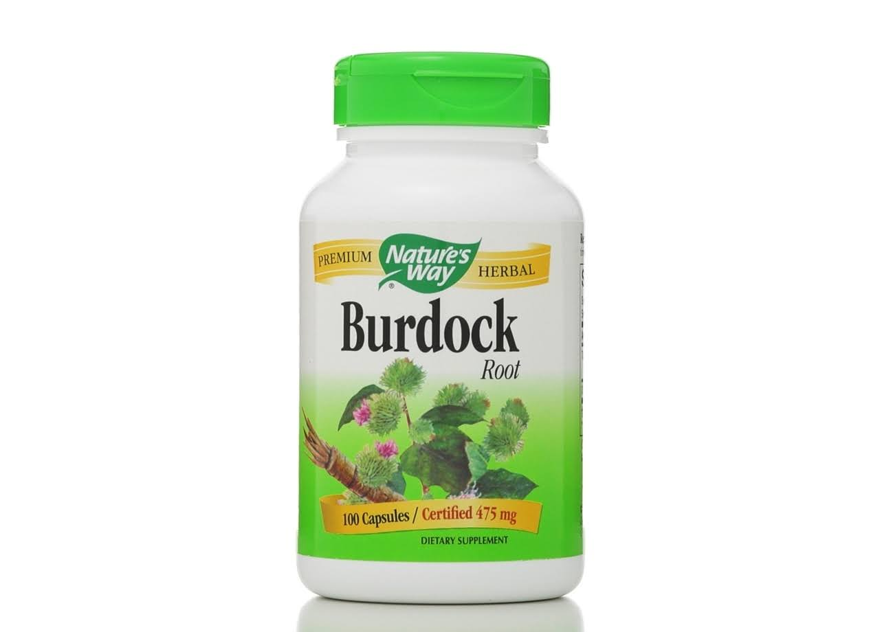 Nature´s Way Burdock Root Dietary Supplement - 100 Capsules