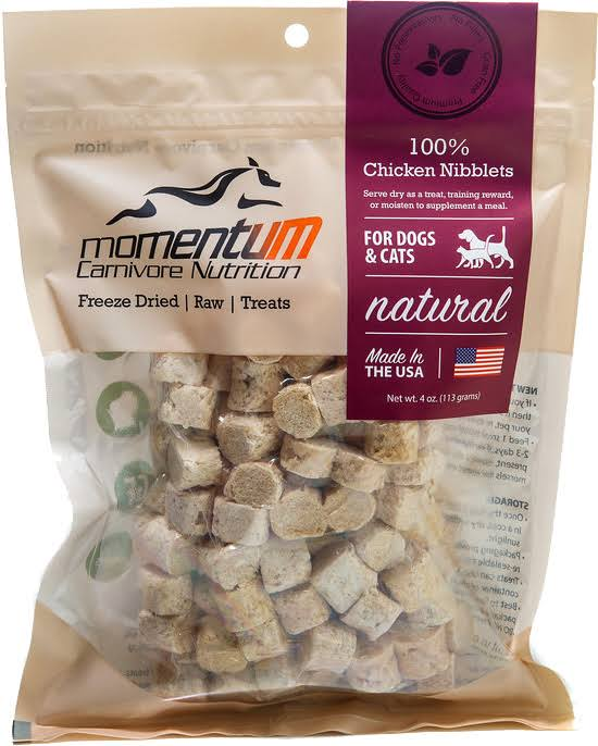 Momentum Freeze Dried Chicken Nibblets 4 oz