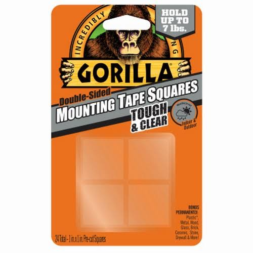 Gorilla Tough & Clear Mounting Tape Squares