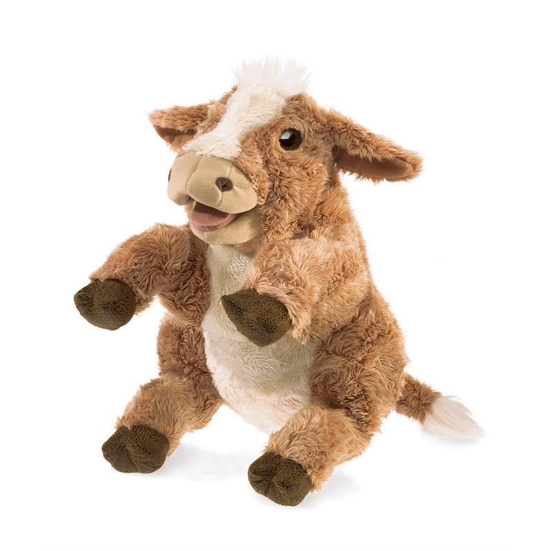 Folkmanis Puppets Plush Toy - Brown Cow