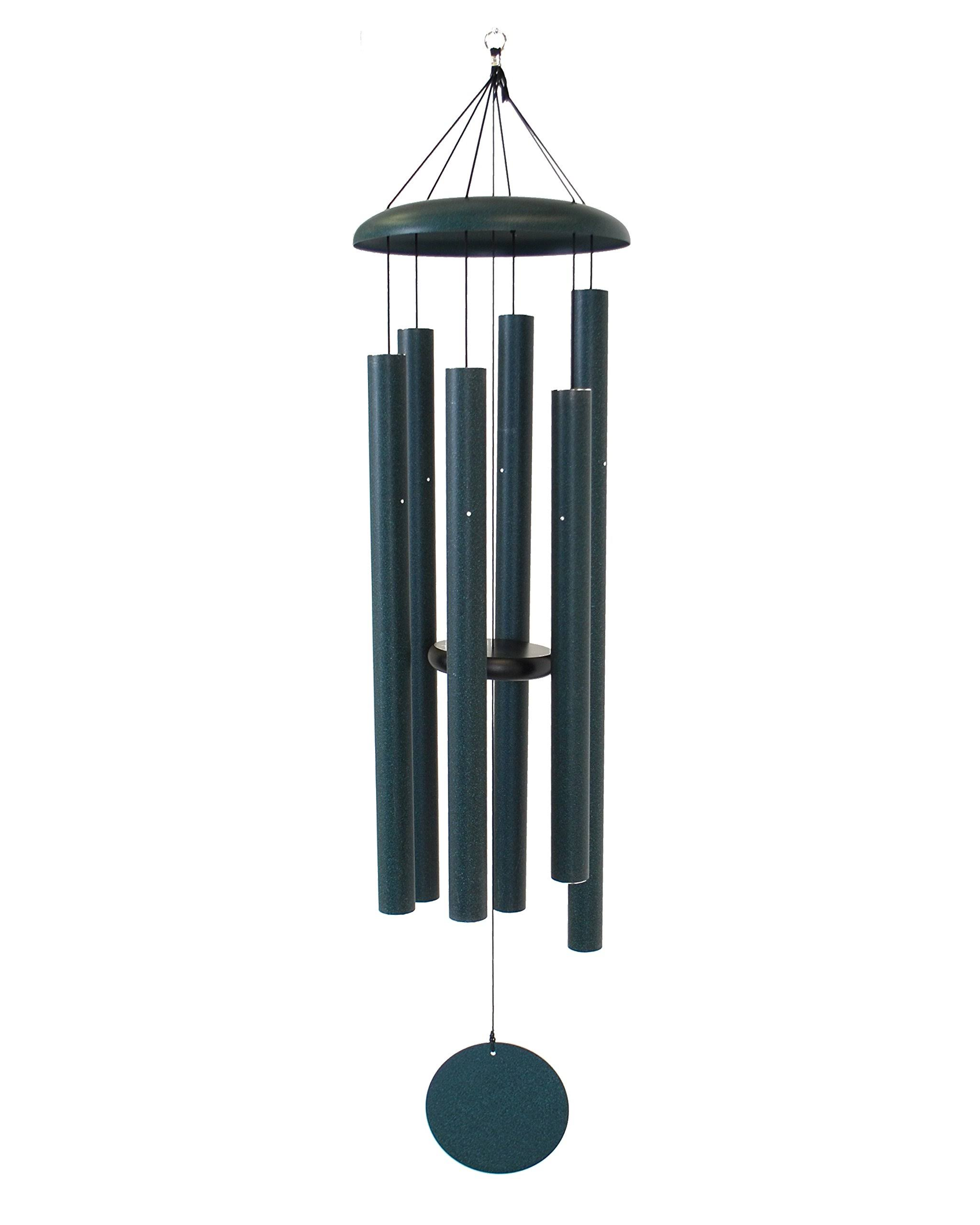 "Corinthian Bells Wind Chime - 53"", Green"