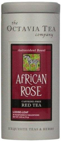 Octavia Tea African Rose (Caffeine-Free Red Tea/Rooibos) Loose Tea, 2.65-Ounce Tins