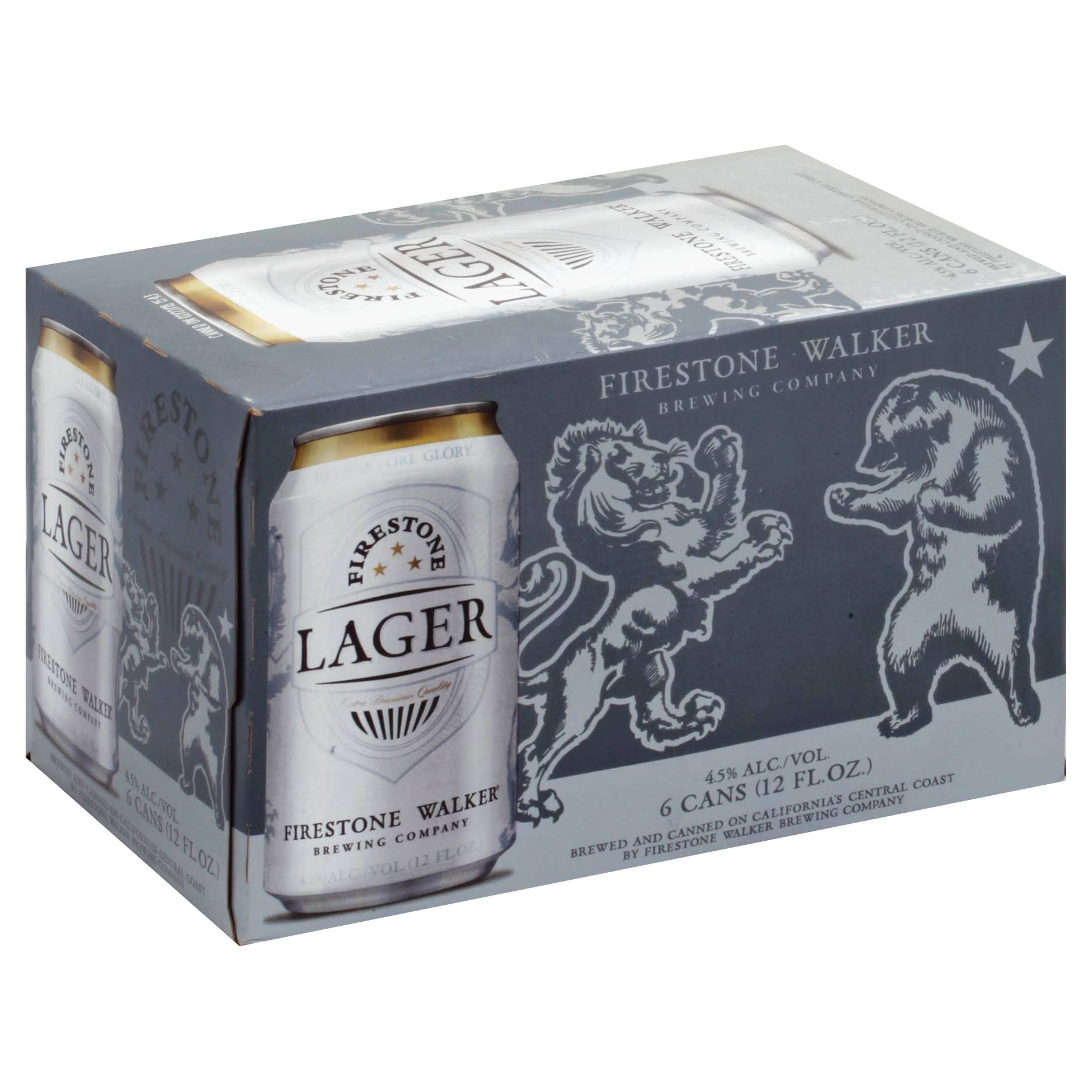 Firestone Walker Beer, Lager, 6 Pack - 6 pack, 12 fl oz cans