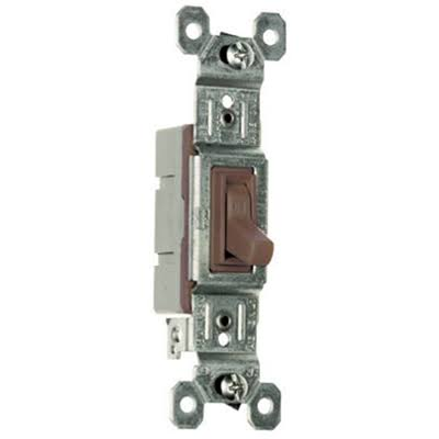 Pass and Seymour Standard Toggle Light Switch - Brown, Single Pole