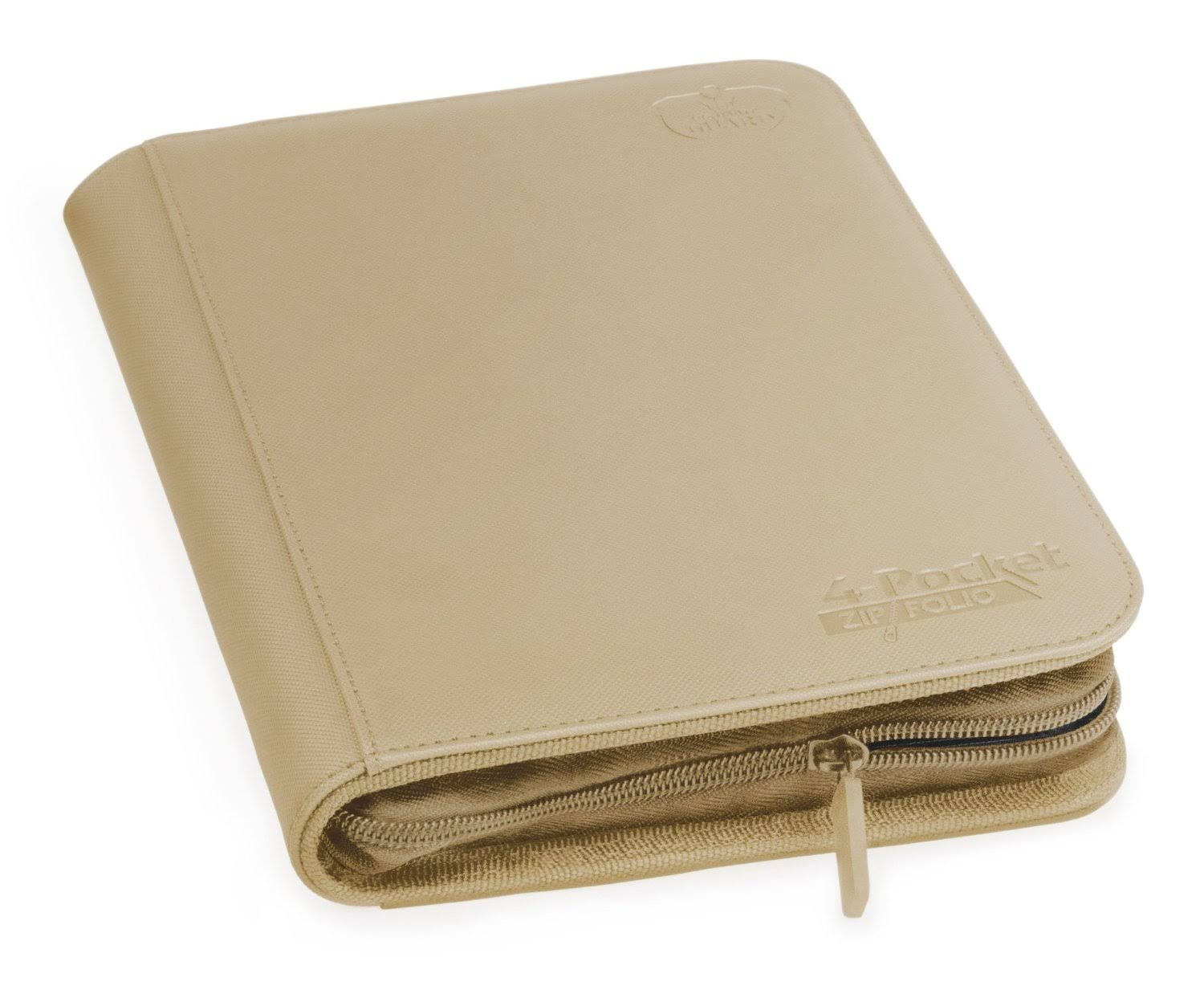 Ultimate Guard 4 Pocket Xenoskin Zipfolio - Sand