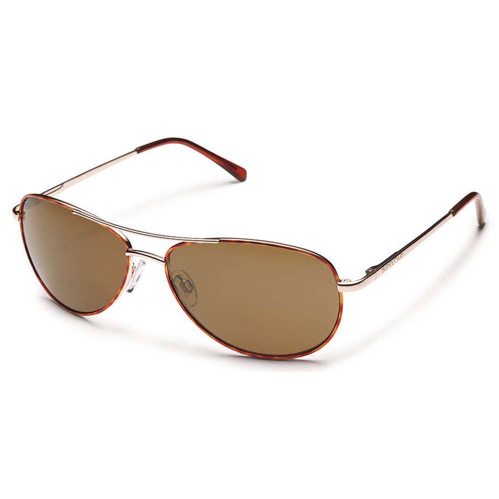 Suncloud Patrol Polarized Optics Aviator Sunglasses - Tortoise and Brown