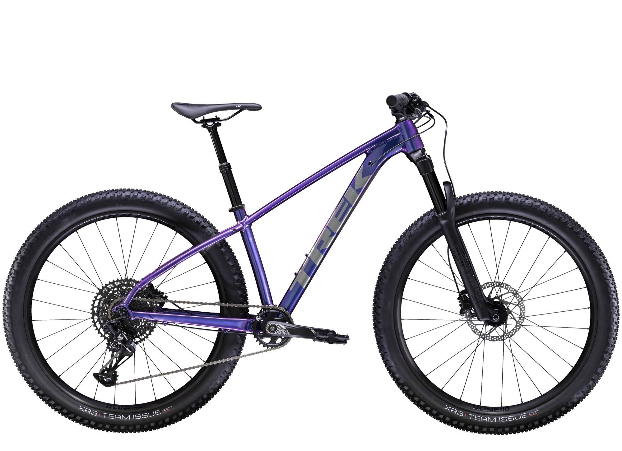 Trek Women's Roscoe 8 Hardtail Trail Bike - Purple Flip, Small