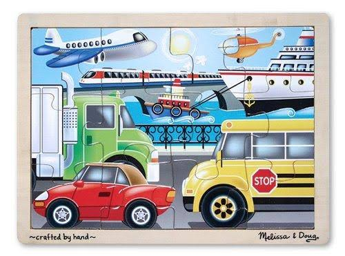 Melissa & Doug On the Go Vehicles Jigsaw Puzzle - 12 Pieces