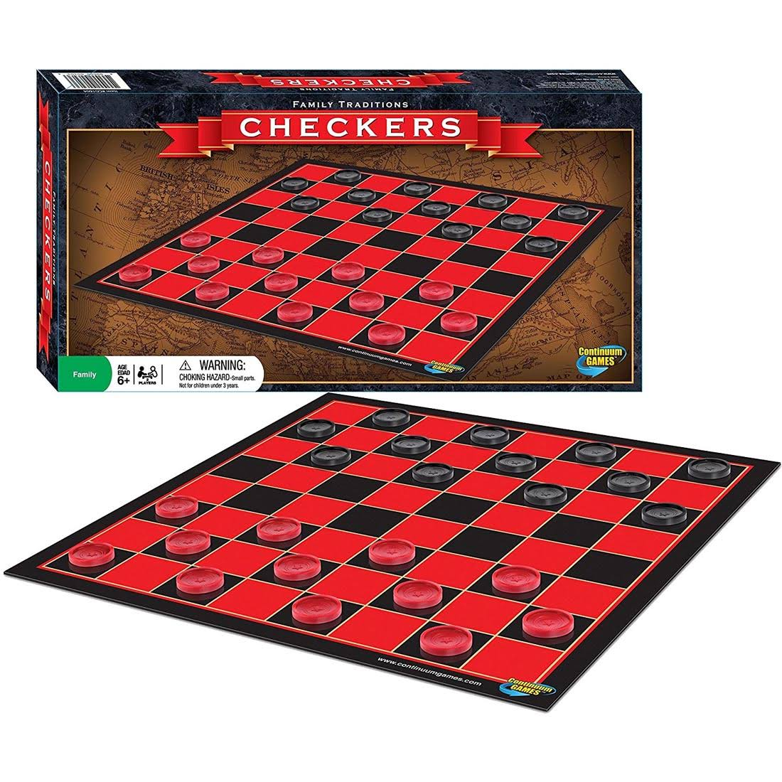 Continuum Games | Family Traditions Checkers Game