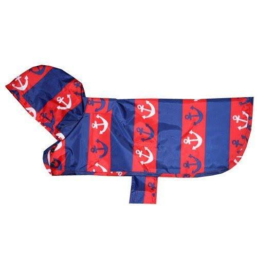 RC Pet Products Packable Dog Rain Poncho - Nautical, XSmall