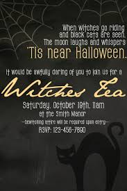 Halloween Potluck Invitation Template Free Printable by How To Host A Witches Tea Party