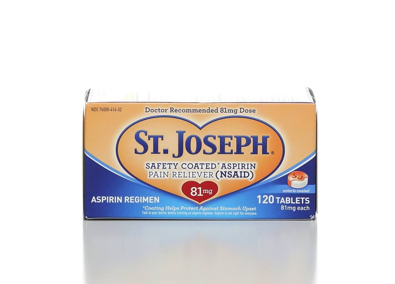 St. Joseph Low Dose Aspirin Tablets - x120
