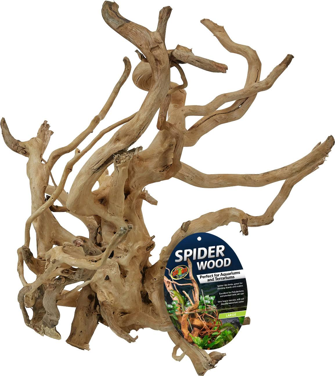 Zoo Med Laboratories ASW-L Spider Wood, Large/16-20 Inc