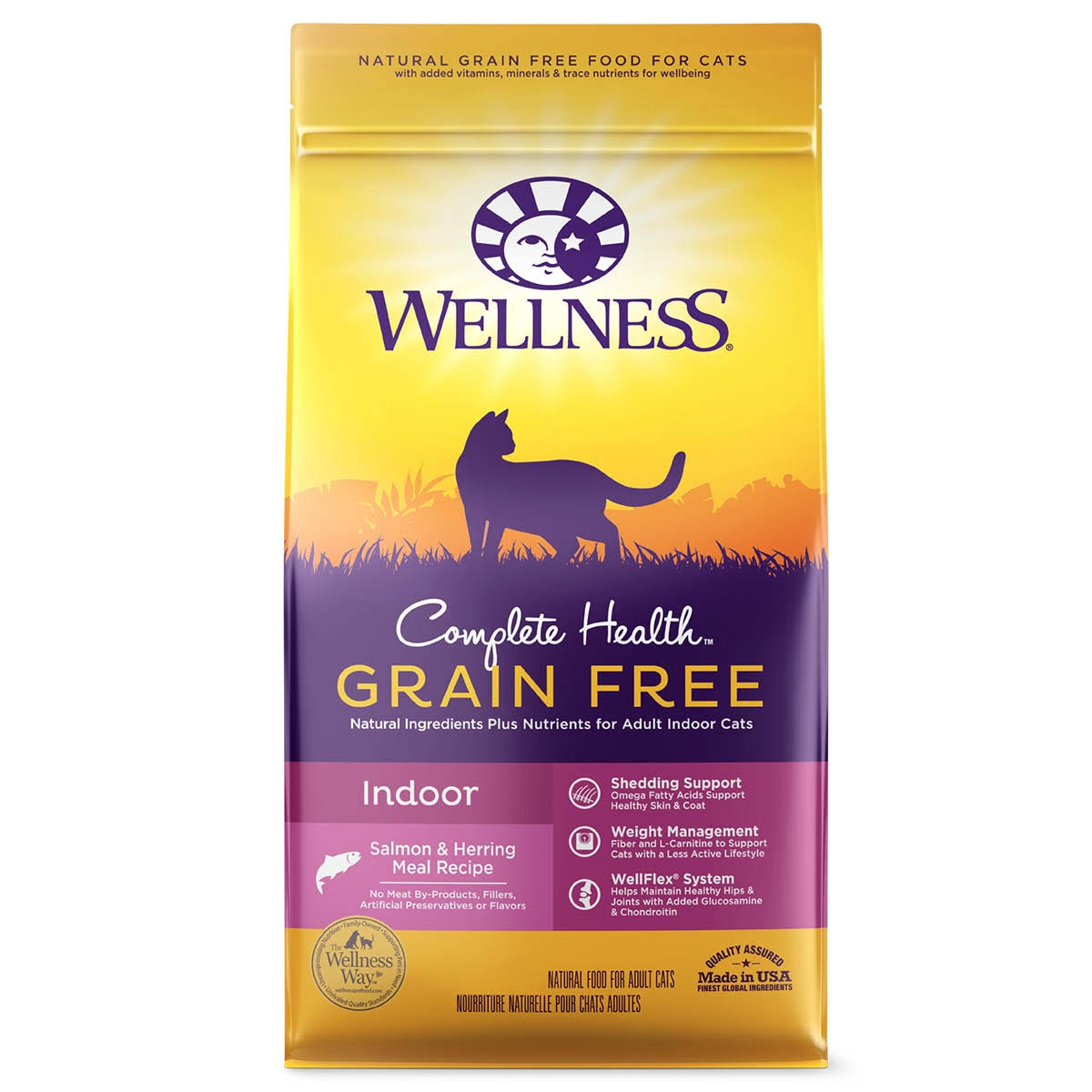 Wellness Natural Complete Health Grain Free Dry Indoor Salmon and Herring Cat Food - 5.5lb