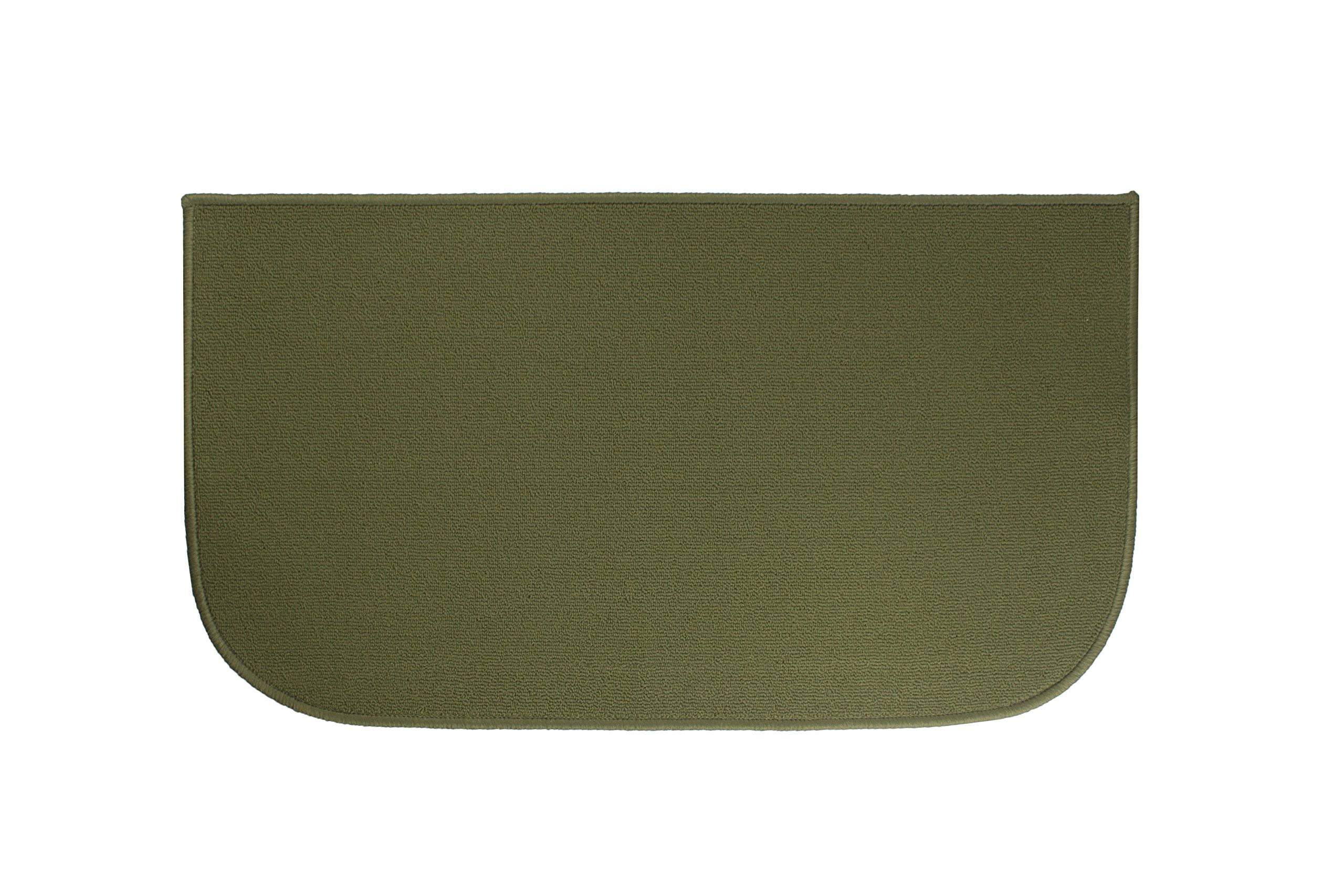 Ritz Accent Kitchen Rug With Latex Backing - Olive Green