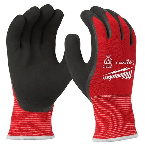 Milwaukee Work Gloves - Red, Large