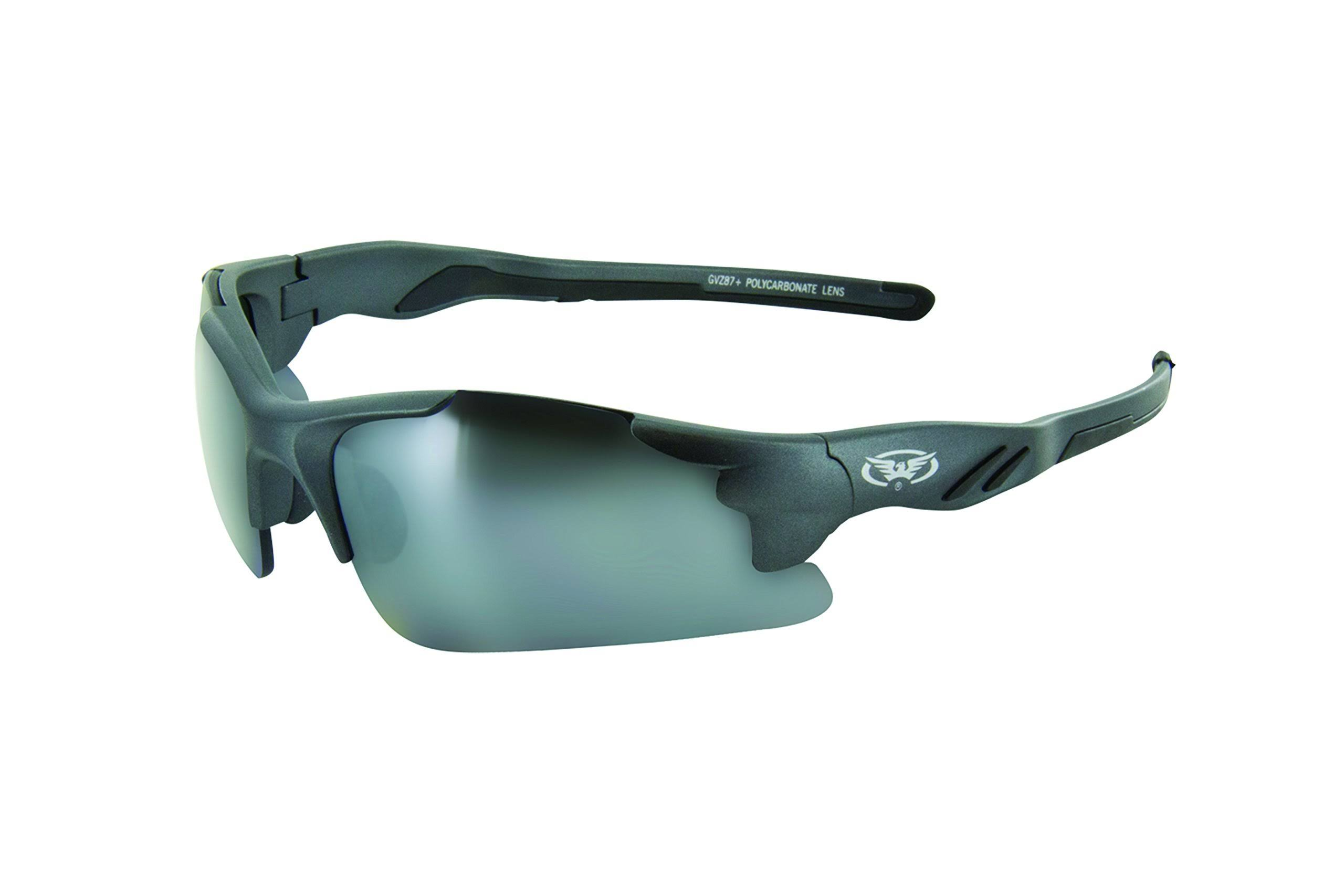 Global Vision Eyewear Metro Series Semi Rimless Sunglasses - Shaded Black Frame