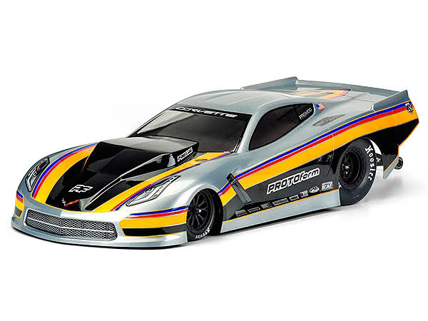 Proline Racing PRO157140 Chevrolet Corvette C7 Pro Mod Clear Body for Slash 2WD Drag