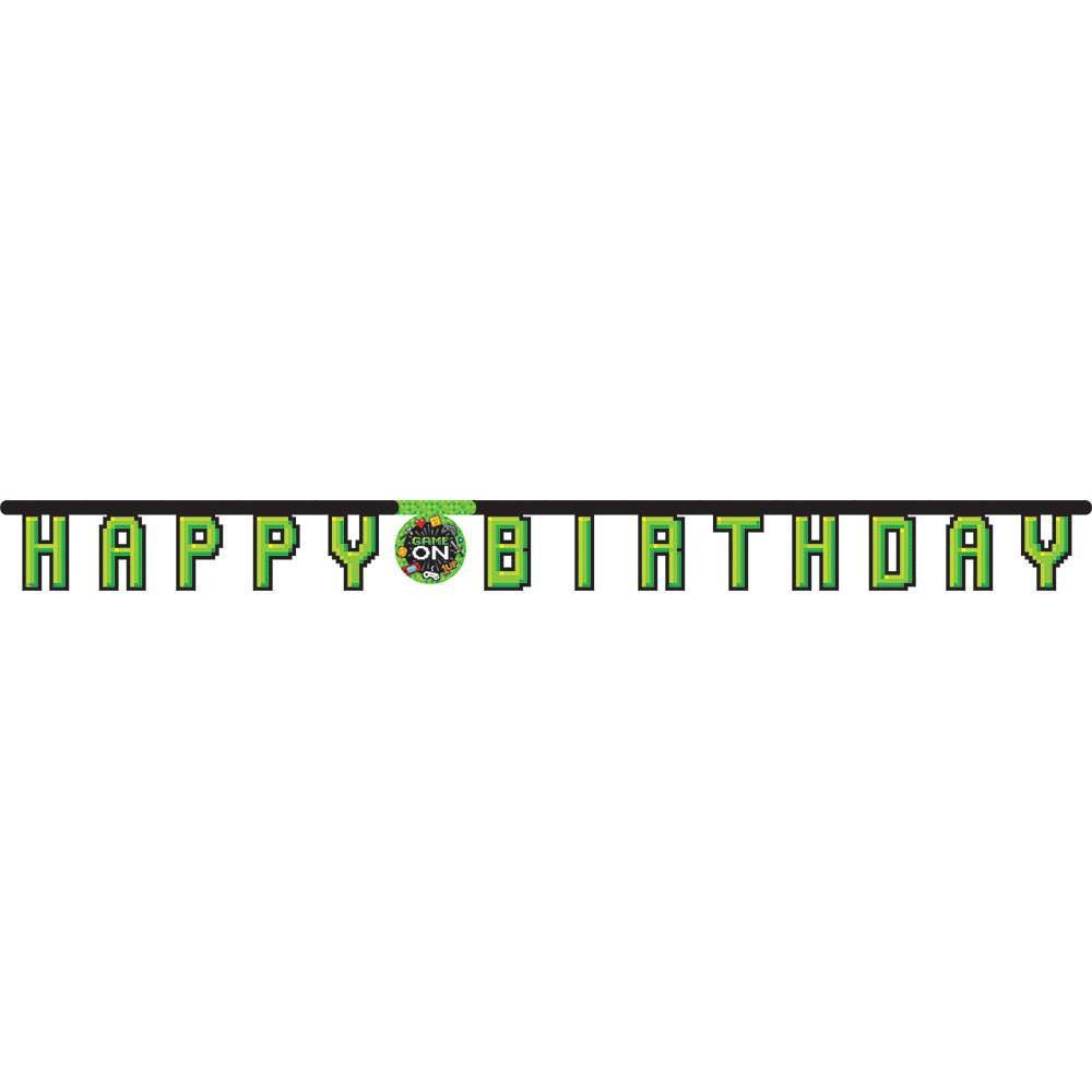 Gaming | Game on Happy Birthday Party Banner | Decoration