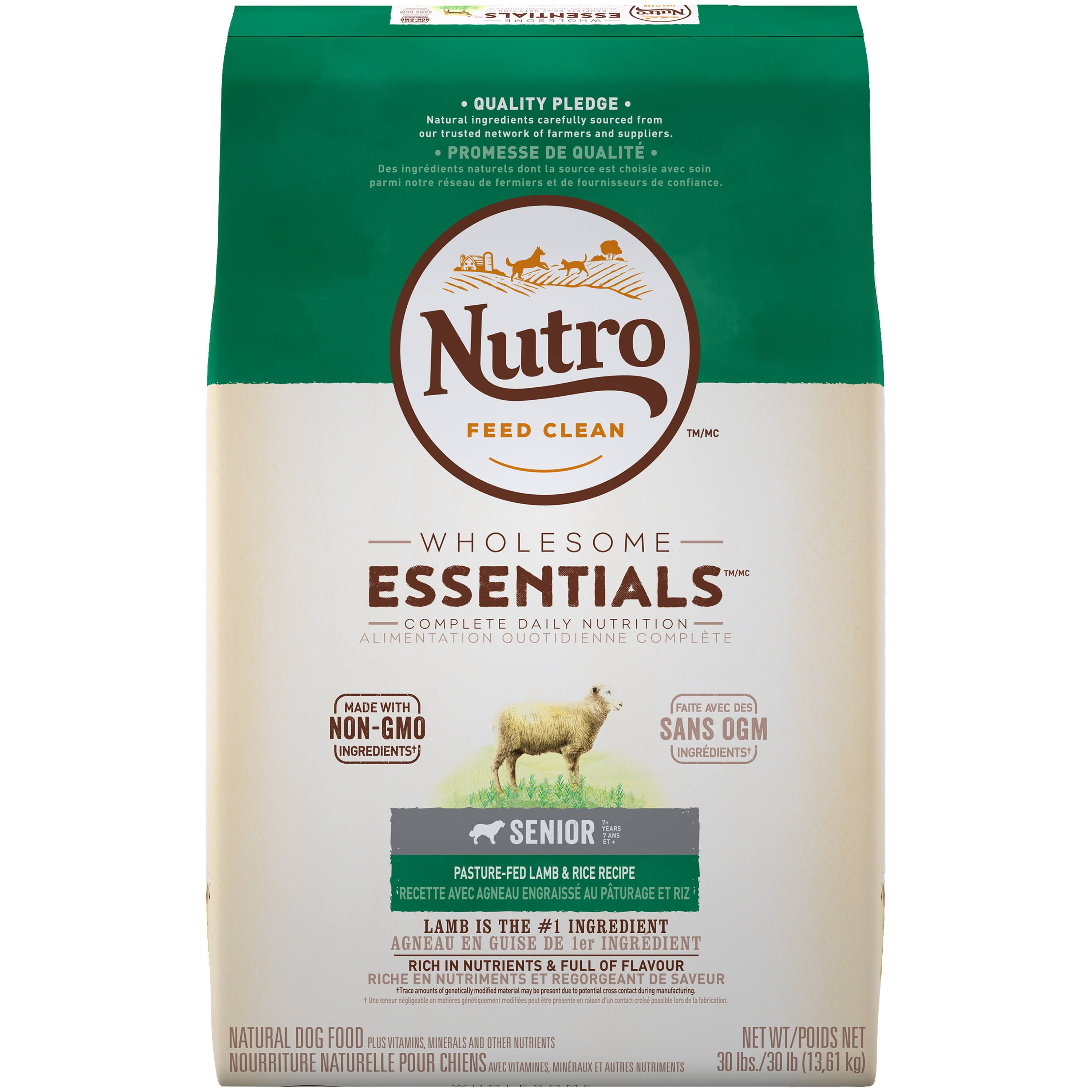 Nutro Senior Dog Food - Lamb and Rice, 30lbs