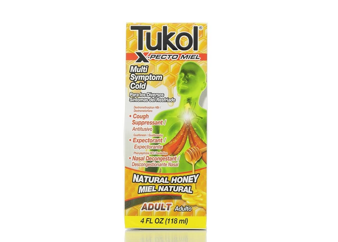 TUKOL Adult X-Pecto Miel Cold Syrup - Honey, 4fl oz