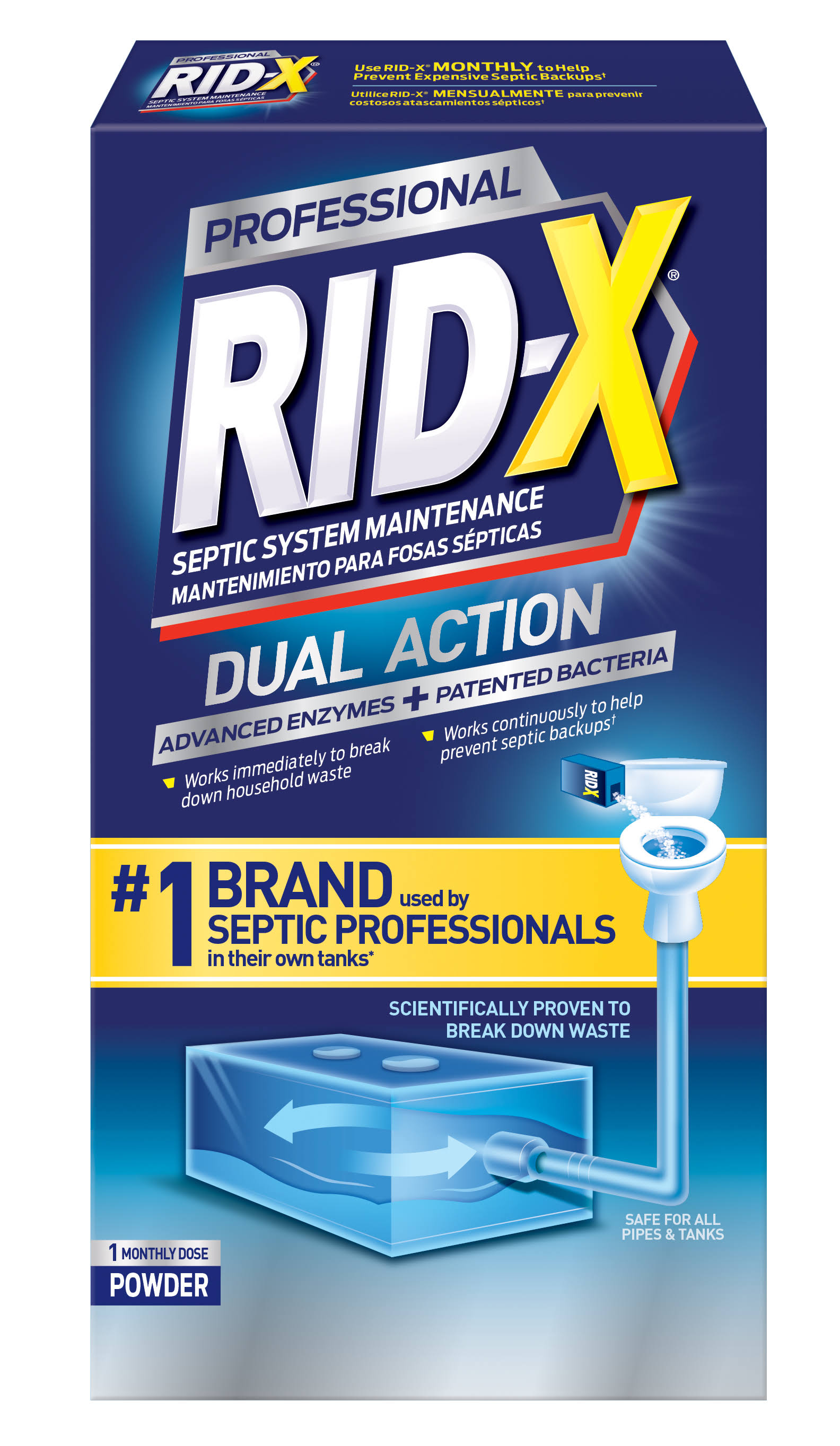 Rid-X Septic System Treatment Powder - 9.8oz