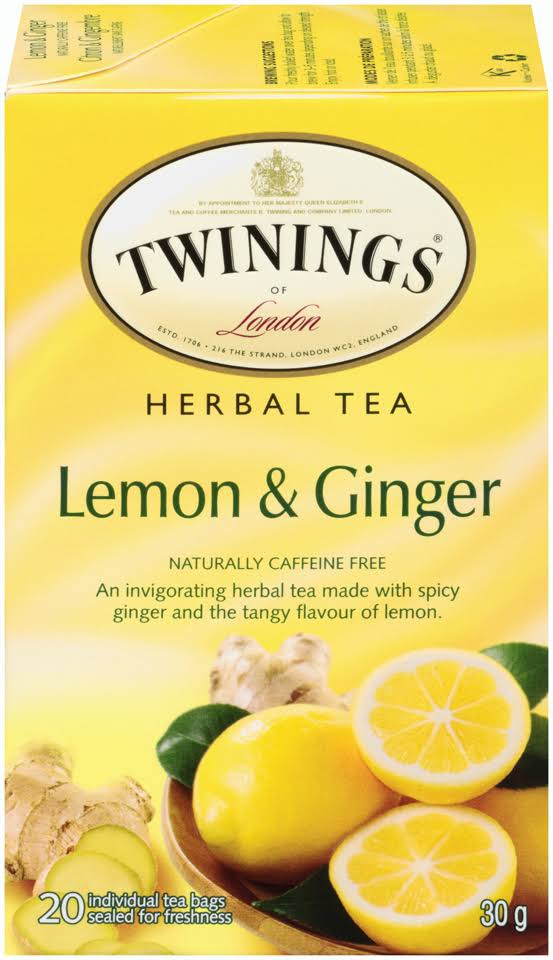 Twinings Of London Herbal Tea - Lemon and Ginger, 30g
