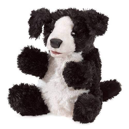 Folkmanis Small Dog Puppy Hand Puppet - Black/White