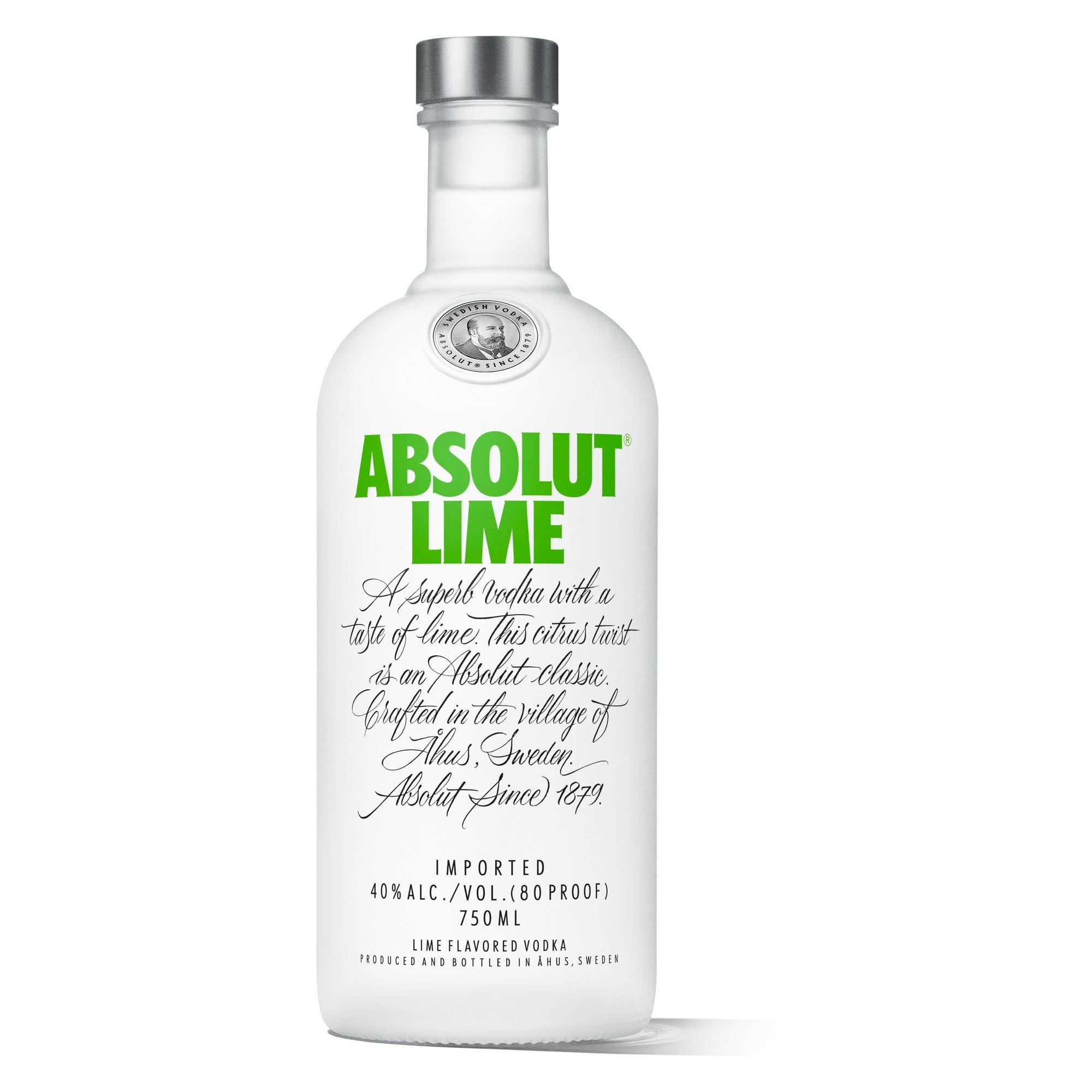 Absolut Vodka, Lime Flavored - 750 ml