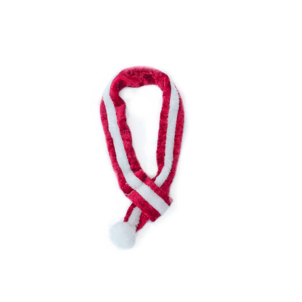 ZippyPaws Holiday Red-And-White Santa Scarf (Small)