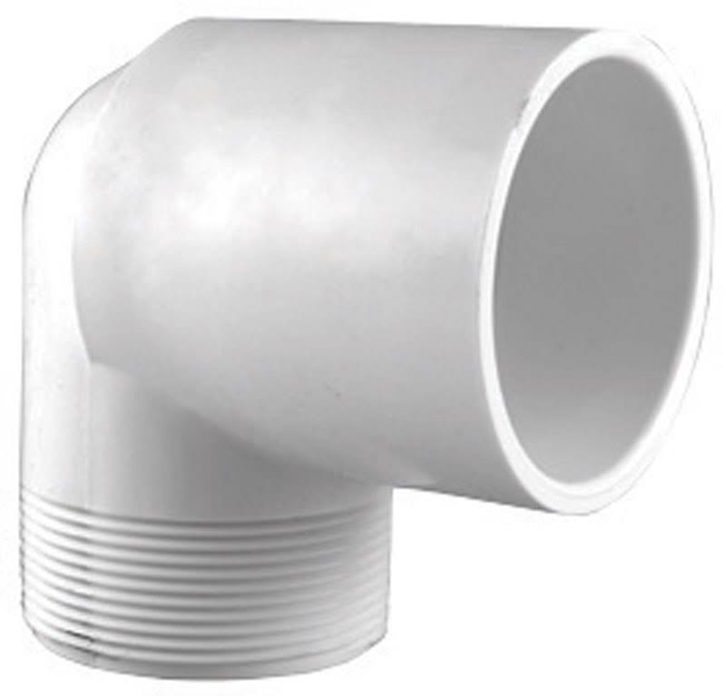 "Charlotte Pipe 90 Degree Street Elbow - 1 1/2"", White"